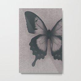 Damask Butterfly Metal Print