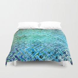 Pattern bluegreen Duvet Cover
