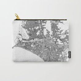 Lima White Map Carry-All Pouch