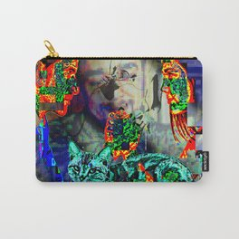 Electro Glitch Cat Just Doesn't Care Carry-All Pouch