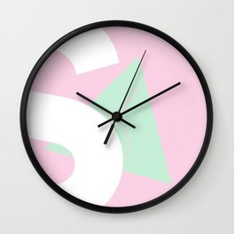 Geometric Calendar - Day 3 Wall Clock