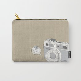 "Yashica Camera - ""Say Cheese"" - soft-brown Carry-All Pouch"