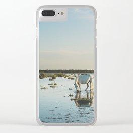 Camargue Horses XXI Clear iPhone Case