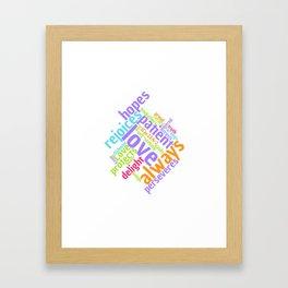 LOVE IS PATIENT 1 CORINTHIANS Word Art Framed Art Print
