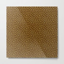 Giraffe Skin Pattern Metal Print