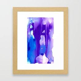 Melting Waterfall #1, Heavenly Purple Framed Art Print