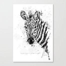 Zebra Canvas Print