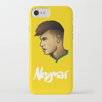 neymar iPhone & iPod Cases featuring Neymar Brazil by Dave Flanagan