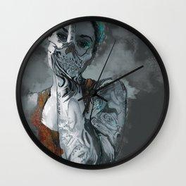 My face is a skull Wall Clock