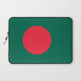 Flag of Bangladesh, Authentic color & scale Laptop Sleeve