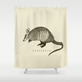Armadillo power Shower Curtain