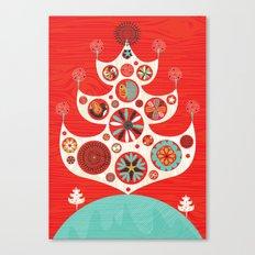 Festive Yule Christmas Tree Canvas Print