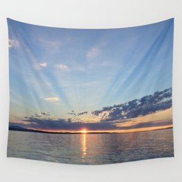 A Seattle Sunset Wall Tapestry
