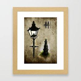 Victorian Lamp post Framed Art Print