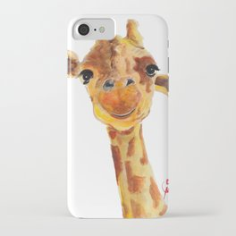 Cute Giraffe ' TOMMY ' by Shirley MacArthur iPhone Case