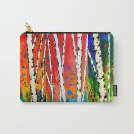 Birch Tree Stitch Carry-All Pouch