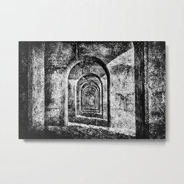 Monochrome Arches Metal Print