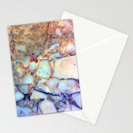 marble effect 007 (blue) Stationery Cards