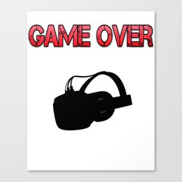 VR Game Over Red Canvas Print
