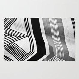 Modern Zebra Abstract Rug