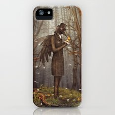 Raven in forest iPhone SE Slim Case