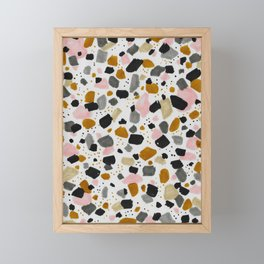 Terrazo brushstrokes Framed Mini Art Print