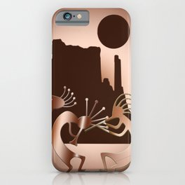 Kokopelli in the Southwest Brown iPhone Case