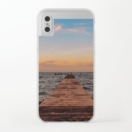 Sittin' on a Dock Clear iPhone Case