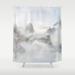 Palace of the Sky Dragons Shower Curtain