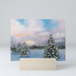 Sunset Winter Snow Mini Art Print