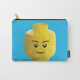 Yellow Legohead Polygon Art Carry-All Pouch
