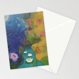 Lovers-Day and Night Stationery Cards