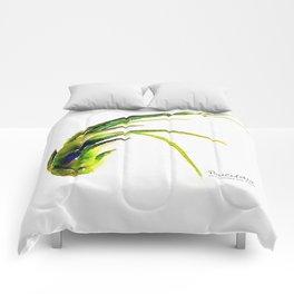 Tillandsia Paucifolia Air Plant Watercolors Comforters