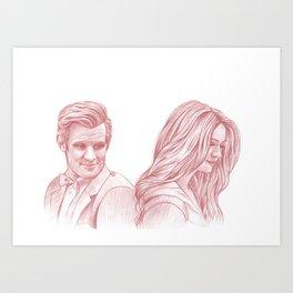 Doctor Who and Amy Pond Art Print