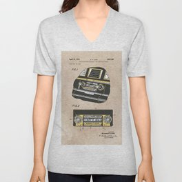 patent Selective stereo tape cartridge player Unisex V-Neck