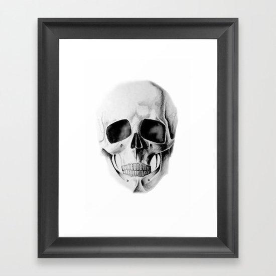le crâne Framed Art Print