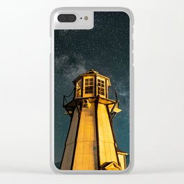 Mountain Light House Two Clear iPhone Case
