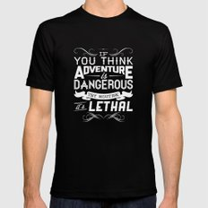 Adventure Black MEDIUM Mens Fitted Tee