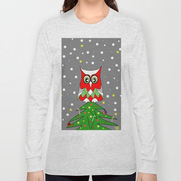 Tree Top Owl Long Sleeve T-shirt