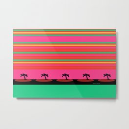 PALM TREES PINK AND GREEN Metal Print