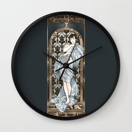 A Scandal in Belgravia - Mucha Style Wall Clock