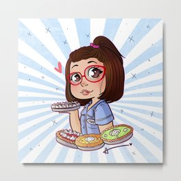 Dawn - Waitress Metal Print