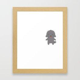 My Poodle Makes Me Happy Framed Art Print