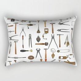 vintage tools collage Rectangular Pillow