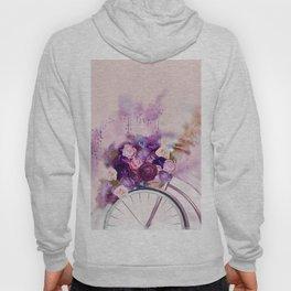 Vintag Bicycle and Flowers Hoody