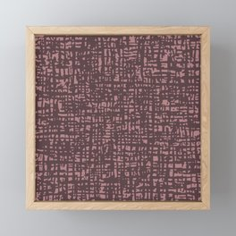Fibre Mesh Pattern (Pink Red) Framed Mini Art Print