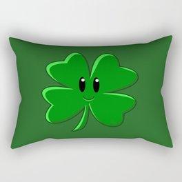 Four Leaf Clover Rectangular Pillow