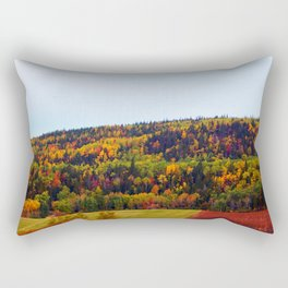 Fall Harvest and the Hills Rectangular Pillow