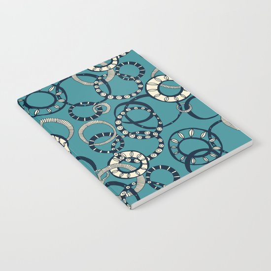 Honolulu hoopla blue Notebook