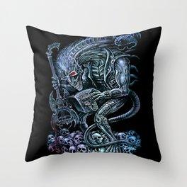 Alien Punk Rocker Outer Space Monster Throw Pillow